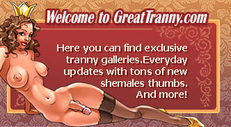 Here you can find exclusive tranny galleries.Everyday updates with tons of new shemales thumbs.
